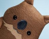 Quokka stuffed animal, Quokka plush doll, Quokka stuffy toy, Happy quokka cute kawaii, stuffy gift nursery decor, Adopt Quokka plush