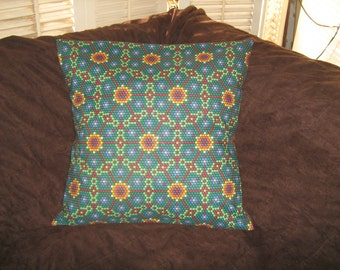 FLORAL BEADED LOOK Southwest Pillow  Cover