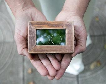 Rustic Wedding Box Glass Ring Bearer Box Еngagement box Artificial Grass Ring Box Proposal Box Ring Bearer Box Wedding Ring Holder  Ring Box