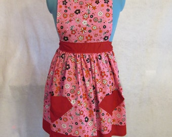 Adorable pink and red Full Apron
