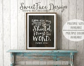 You Are My Hiding Place And My Shield; I Hope In Your Word Psalm 119:114 Scripture print/ Bible verse art/ Christian home decor/ shabby chic