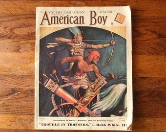 American Boy vintage magazine June, 1935, Youth's Companion magazine