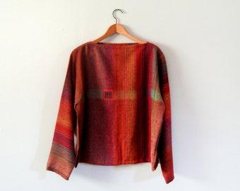 Vintage Handwoven Artisan Shirt / Sweater / Tunic Top