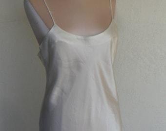 Victoria's Secret Chemise Nightgown Vintage Satin Large