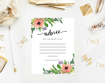 Instant Download - Boho Bride Advice for the Bride Cards