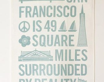Surrounded by Reality Tea Towel