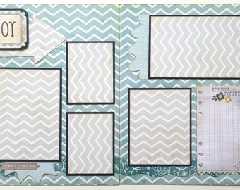 My Boy Pre Made 2 Page 12x12 Scrapbook Layout