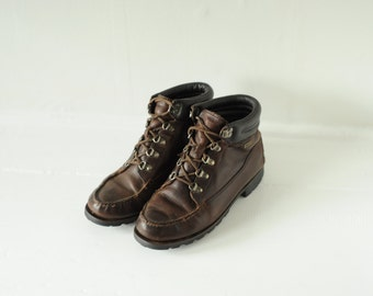 Vintage HH Brown Gore-Tex Brown Leather Hiking Ankle Boots, Womens 9 1/2 / ITEM095