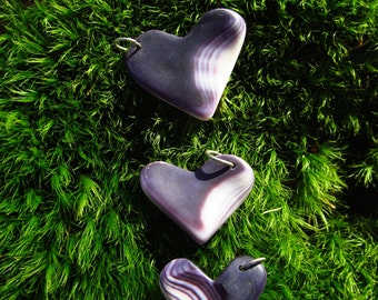 Wampum Heart Pendants