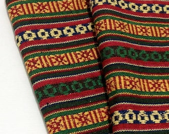 Thai Woven Cotton Fabric Tribal Fabric Native Fabric by the yard Ethnic fabric Aztec fabric Craft Supplies Woven Textile 1/2 yard (WF31)