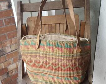 JUTE   ///    Large Straw Bag