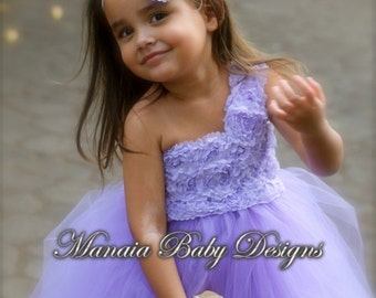 Lavender Flower Girl Dress / Violet Flower Girl Dress / Lavender Tutu Dress / Violet Tutu Dress / Purple Tutu Dress