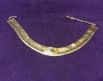 Whiting and Davis Gold Mesh Bracelet Vintage