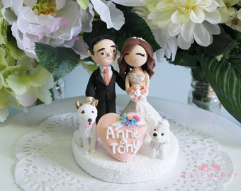 Custom Cake Topper- Champagne theme