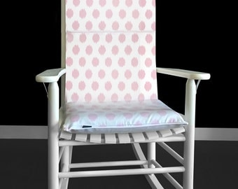 Rocking Chair Cushion White Black Speckled Fur By