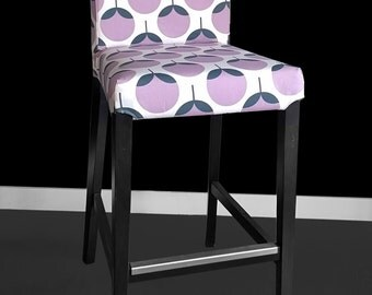 IKEA HENRIKSDAL Bar Stool Chair Cover - Caroline Lavender