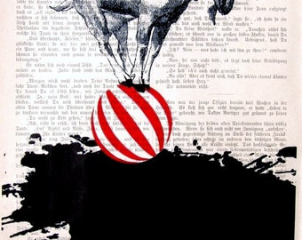 NICE PLACE, original mixed media,art print poster acrylic painting