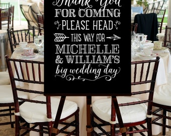 Wedding Welcome Sign, PRINTABLE FILE, Black White, Hand Drawn, Gold, Calligraphy, Script