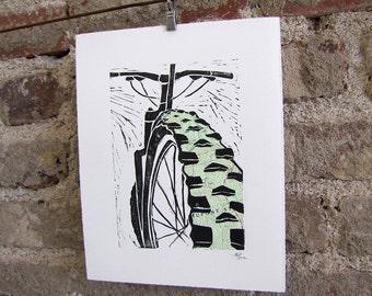Mountain Bike Topographic Art Print - Mountains Topo