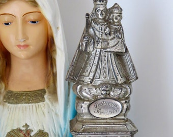 "6""  Early 1900's VIRGIN MARY CHILD -St Maria Kevelaer Statue-  Perfect for your religious altar- super heavy"