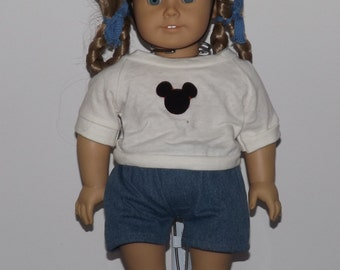 Mouseketeer Outfit - Mickey Mouse - fits American Girl and other 18 inch dolls