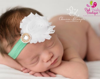 Baby Headband - Infant Headband - Baby Hair bow - Newborn Headband - Toddler Headband - Baby Bow Headband - You pick 1 - Easter Headband