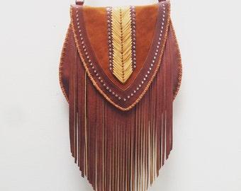 Woven Venus Fringe Crossbody Bag
