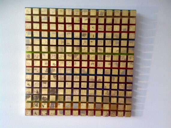 Modern wood cube wall art decor colorful - Cube wall decor ...