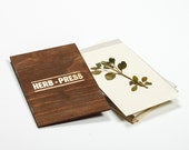 HERB PRESS - wood leaves flowers and plants press for herbarium - HERB062