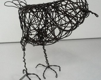 Original Handmade Wire Bird Sculpture - PERCIVAL