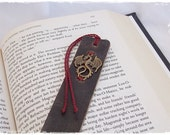 Fantasy Leather Bookmark, Dragon Bookmark, Celtic Bookmark, Medieval Bookmark, Bookworm Gift, Nordic Bookmark, Norse LARP Bookmark, Book Tag