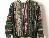90s Textured Sweater - Cotton Traders - L