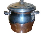Graceful Silverplate Ice Bucket with Lid