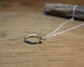 Ouroboros Pendant necklace - Oxidized Ouroboros necklace - Silver Ouroboros necklace - Snake Eating Itself - Silver Serpent Jewelry