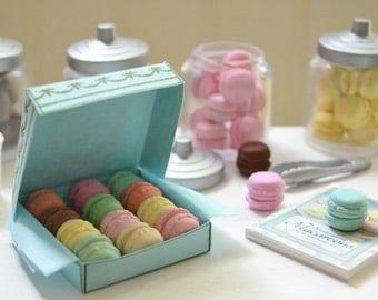 1:6 Scale Sweet Petite Play Scale Miniature Laduree Macarons