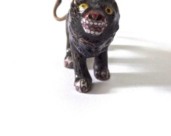 Antique Cloisonne Miniature Chinese Lion
