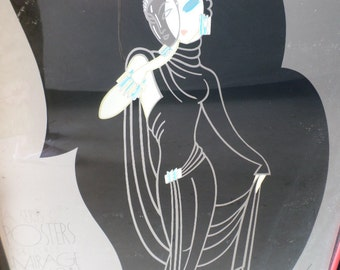 Erte/ART DECO/LONDON/Silver/Foil/No Frame/1978/Santa Monica/Mirage Posters