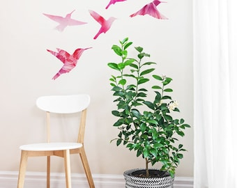 Watercolor Bird Family | Removable Wall Sticker | LSB0254CLR-S