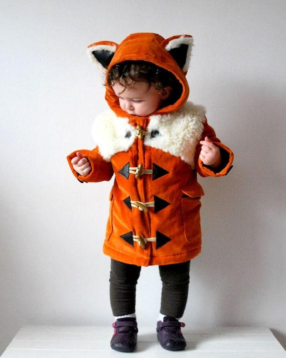 Fox coat JANUARY 2018 pre order orange childrens animal