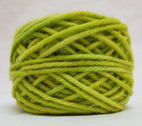 Honeydew, 100% Wool, 2 oz 43 yards 4-Ply, Bulky weight or 3-ply Worsted weight yarn already wound into cakes, ready to use. Made to Order