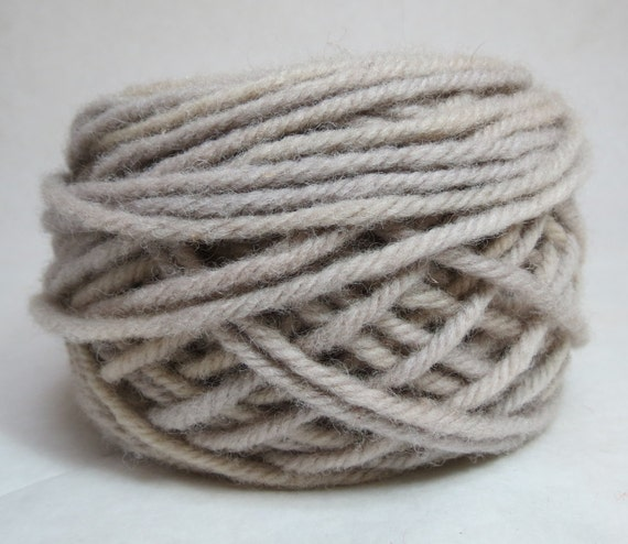 FRENCH VANILLA, 100% Wool, 2 ozs. 43 yards, 4-Ply Bulky or 3-ply worsted weight yarn, already wound into cakes, ready to use, made to order.