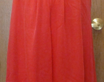 RED FLOAT NIGHTGOWN vintage peignoir mini night gown S shadowline