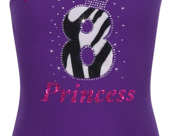 8th Birthday Shirt Girls Rock Birthday Girl Shirt Black White Zebra Purple Rhinestone Number 8 Personalized Name Pink Birthday Tutu Skirt