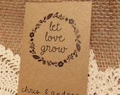 20+ Custom Seed Packet Wedding Favor Let Love Grow Personalized Favour Envelope DIY Wedding Seeds Herbs Flower Fill Your Own Plant with Love