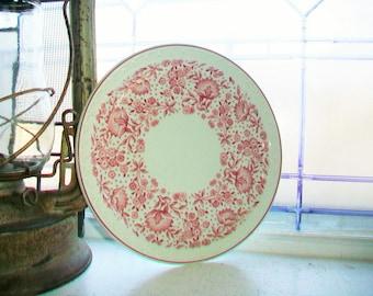 5 Syracuse China Luncheon Plate Roxbury Red Vintage Restaurant Ware