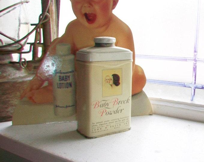 Vintage 1950s Baby Breck Powder Tin