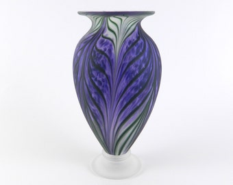 Purple Hand Blown Glass Vase