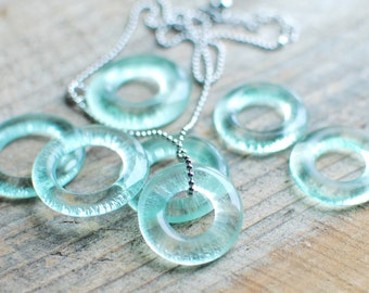 Recycled Coke Bottle Necklace | Natural Glass