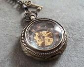 Pocket Watch, Steampunk Pocket Watch, Black Pocket Watch, Goth Pocket Watch, Best Man Gift, Steam Punk Accessory, Mechanical Pocket Watch