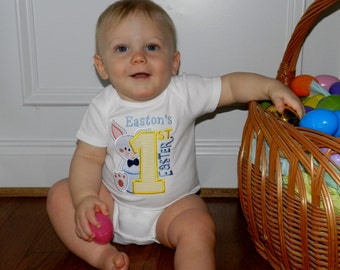 First Easter Shirt / Personalized / Bunny / Rabbit